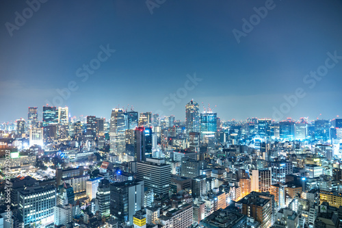 Wall mural 東京 夜景