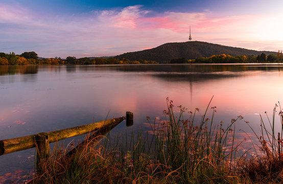 Sunrise in Canberra, the Capital City of Australia