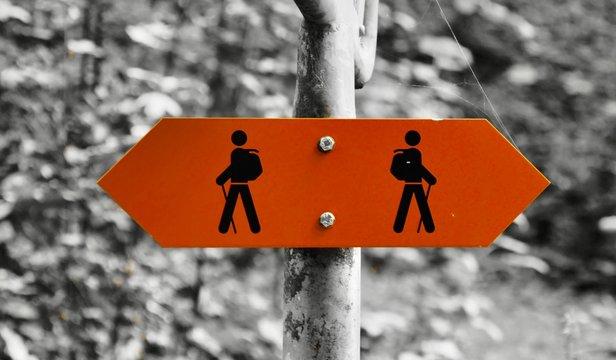 Walking Track /Trail sign Switzerland