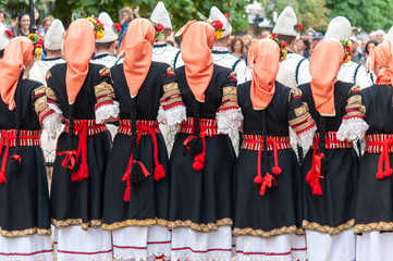 Bulgaria woman dancers participed street performance