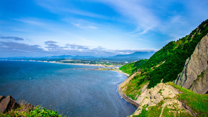 Tuinposter Kust The coast of the island of Sakhalin.