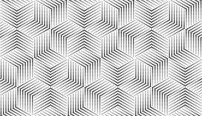 Fotorolgordijn Geometrisch Abstract geometric pattern. A seamless vector background. White and black ornament. Graphic modern pattern. Simple lattice graphic design
