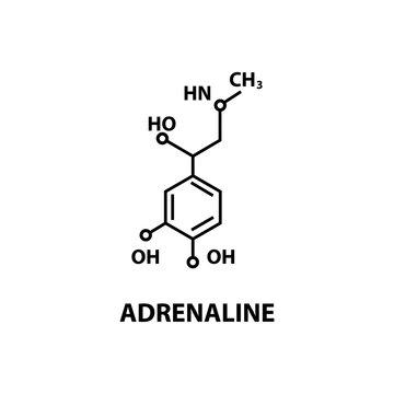 Adrenaline formula icon illustration. Vector eps10