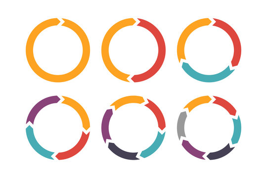 Circle arrow for infographic icons set