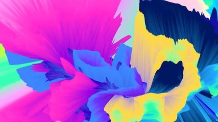 Abstract background. Surreal texture. Bright wallpaper. Simple backdrop. Glow. Neon. Digital art. Intense. Cosmic. Futuristic. 3d illustration. Poster. Creative. Futuristic. Vibrant. Fantasy.