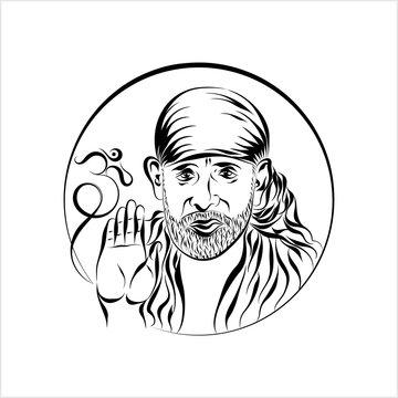 Calligraphic Shirdi Sai Baba