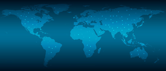 The picture shows the convenient communication of people around the world, vector.