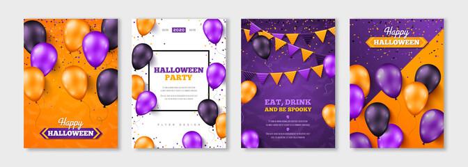 Happy Halloween balloon posters