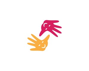 Hand kids concept vector illustration icon design