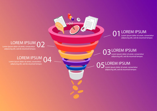 Sales Funnel Business infographics.