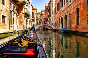 Small canal in Venice from the gondola