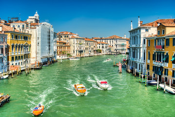 Venice Grand Canal view from the bridge