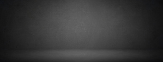 Simple black studio of chalkboard texture for showroom background