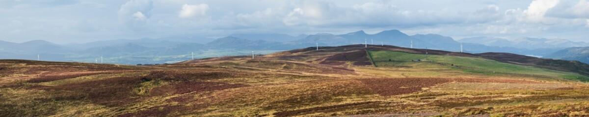 Kirkby Moor windfarm panorama