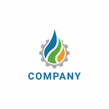 Nature elements. Water, Fire, Earth. Nature logo. Alternative energy sources. Fire Shape logo. Water Shape logo. Earth Shape logo. Eco logo
