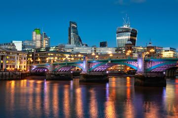 Blackfriars Bridge over the River Thames, London, England, United Kingdom, Europe