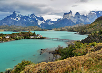 Aluminium Prints New Zealand Torres del Paine. Patagonia mountains and lake. Chile