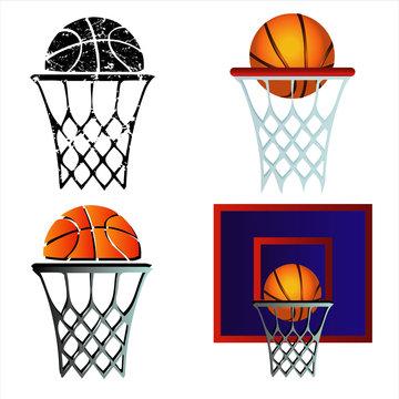 Basketball grunge set