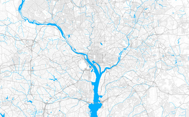 Rich detailed vector map of Washington, D.C., U.S.A. Fototapete