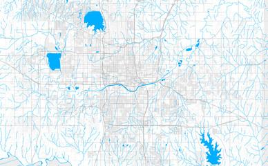 Fototapeta Rich detailed vector map of Oklahoma City, Oklahoma, U.S.A. obraz