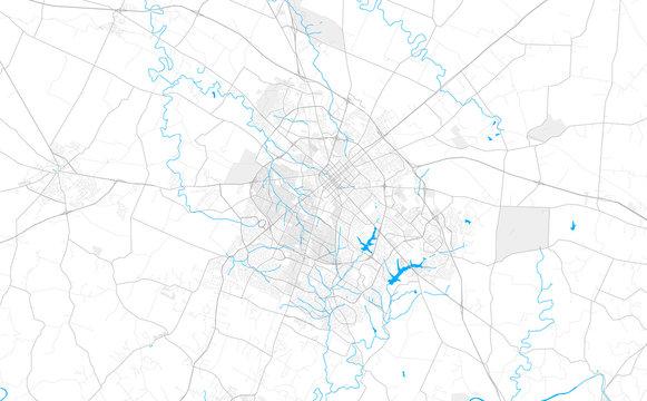 Rich detailed vector map of Lexington, Kentucky, U.S.A.