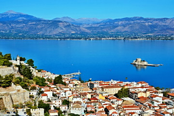 Greece-view of the city of Nafplio