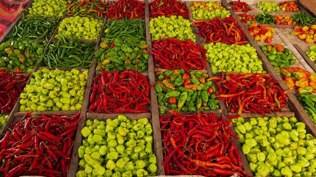 fresh fruits and vegetables, zanzibar