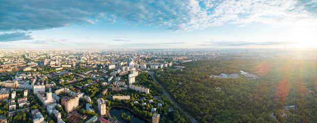 Aerial view of Moscow over the Sokolniki district Fototapete