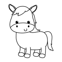 Isolated donkey cartoon vector design