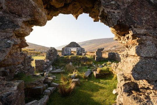 Glendalough monastic ruins at Wicklow Mountains National Park, Ireland