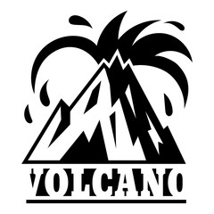 Island volcano logo. Simple illustration of island volcano vector logo for web design isolated on white background