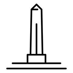 Egyptian obelisk icon. Outline egyptian obelisk vector icon for web design isolated on white background