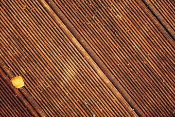Wall Mural - Dirty wooden deck tile flooring