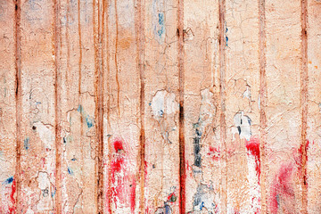 Wall Mural - Wall texture as grungy cracked background