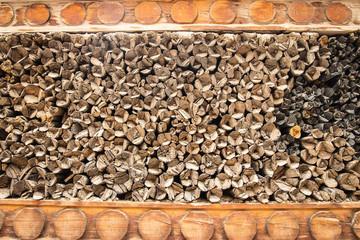 Photo sur Aluminium Texture de bois de chauffage Pattern of firewoods texture and background