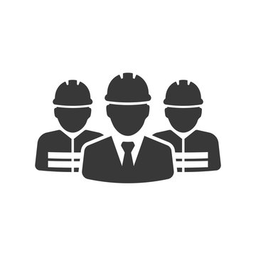 vector icons of construction man worker