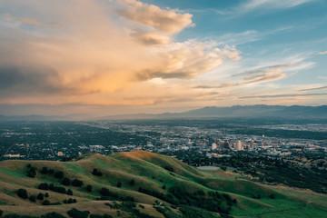 Wall Mural - Sunset view from the Bonneville Shoreline Trail, in Salt Lake City, Utah