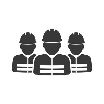 construction worker vector icon