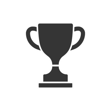vector icon trophy cup isolated on white