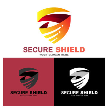Shield letter s logo, safe/secure/protection logo, design with 3d style, fast and speed logo , swoosh icon