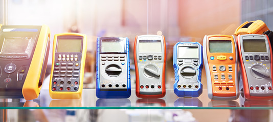 Portable voltmeters in store
