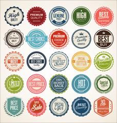 Obraz Retro vintage badge and label collection - fototapety do salonu