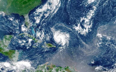 Satellite view of an hurricane Dorian approaching to USA.Elements of this image furnished by NASA.