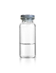 Fotobehang Kruiderij medical glass bottle with liquid isolated