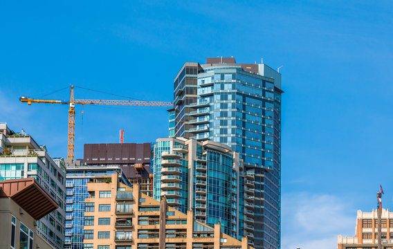 New Blue Tower Construction in Seattle Washington