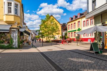 Fußgängerzone des Eifelstädtchens Gemünd