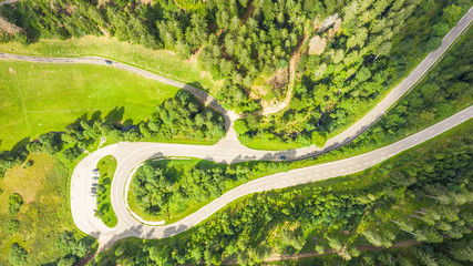 winding road in the black forest area germany