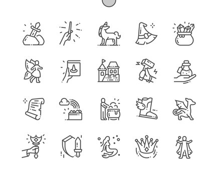 Fantasy 2 Well-crafted Pixel Perfect Vector Thin Line Icons 30 2x Grid for Web Graphics and Apps. Simple Minimal Pictogram