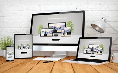 website responsive design screen multidevices