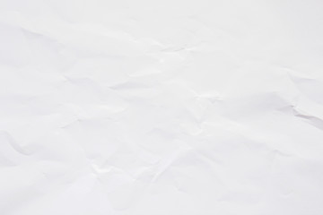Clean white paper, wrinkled, abstract background. Fototapete